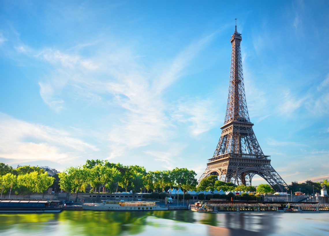 The unlit Eiffel Tower requires no property release