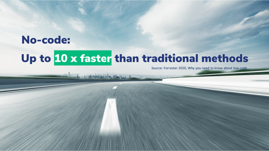 No-code is 10x faster