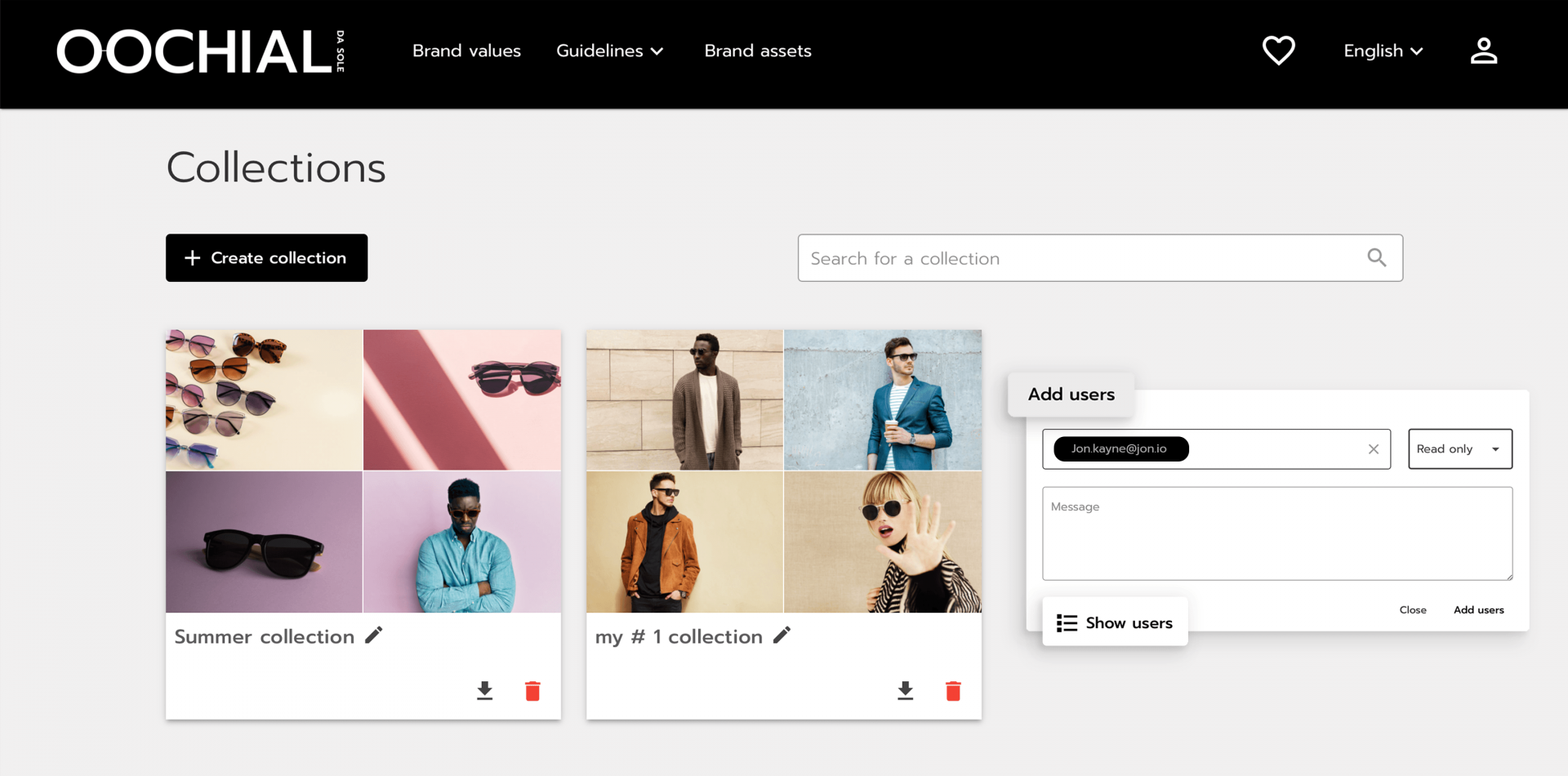 Collect and share your brand assets