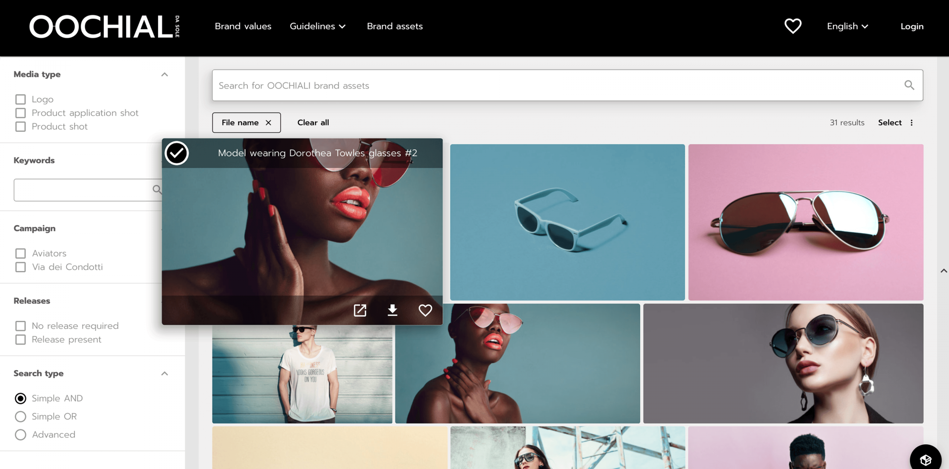 Search and find your brand assets in Portals