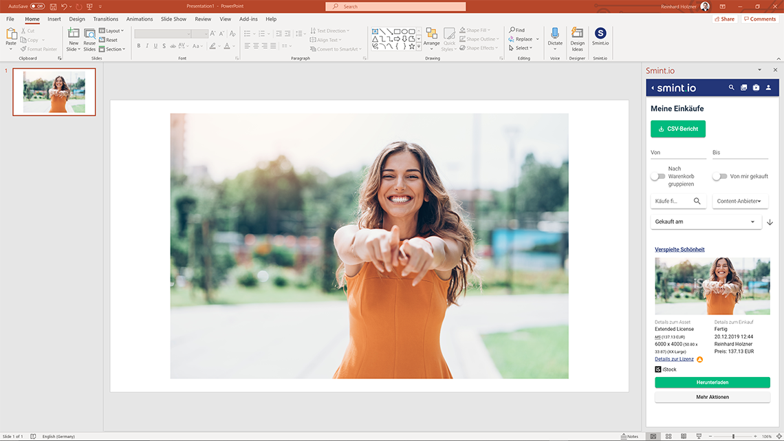 Smint.io Add-In für Microsoft Office