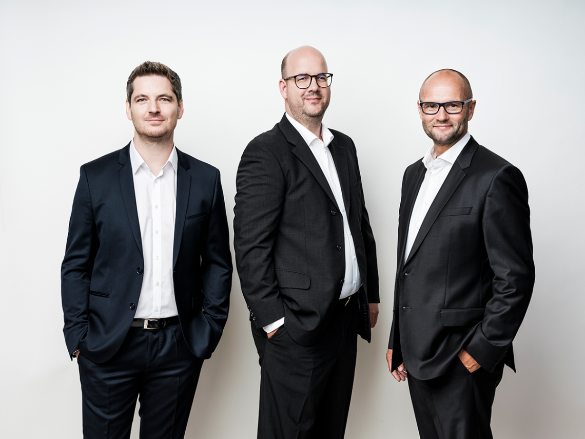 The Smint.io Founding Team, (left to right) Reinhard Holzner, Nikolaus Rosenmayr, Gert Fahrnberger - © Robert Maybach